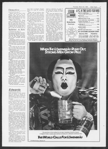 Daily Trojan, Vol. 100, No. 48, March 20, 1986