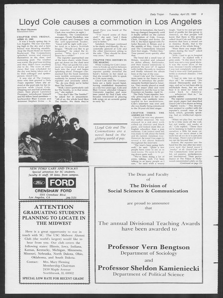 Daily Trojan, Vol. 98, No. 65, April 23, 1985