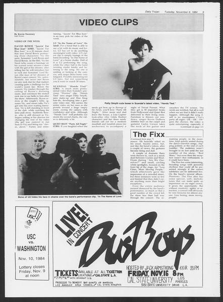 Daily Trojan, Vol. 97, No. 45, November 06, 1984