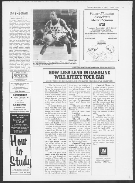 Daily Trojan, Vol. 100, No. 53, November 19, 1985