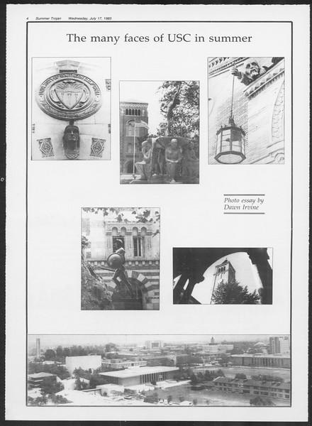 Summer Trojan, Vol. 99, No. 9, July 17, 1985
