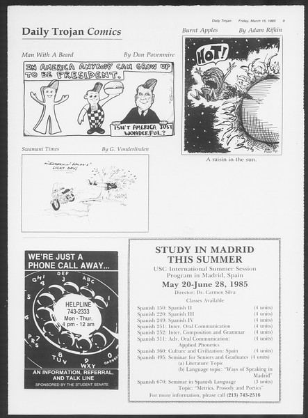 Daily Trojan, Vol. 98, No. 44, March 15, 1985