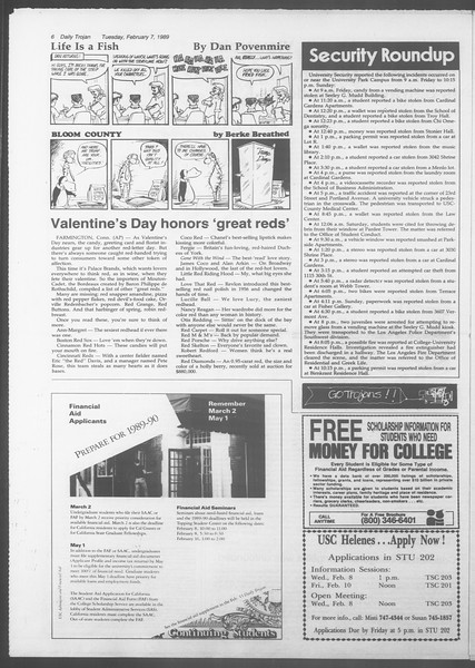 Daily Trojan, Vol. 108, No. 18, February 07, 1989
