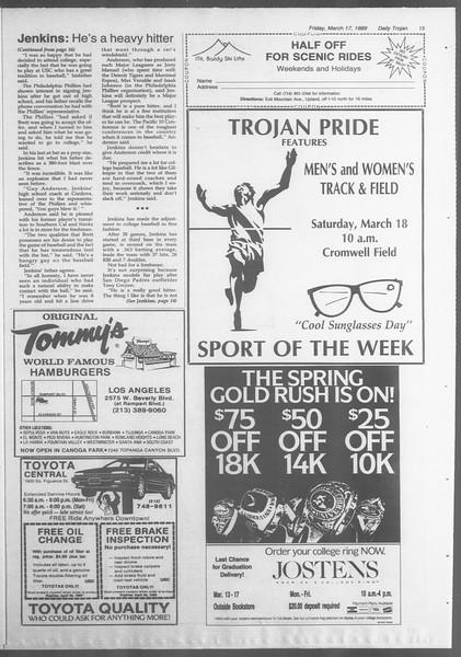 Daily Trojan, Vol. 108, No. 44, March 17, 1989