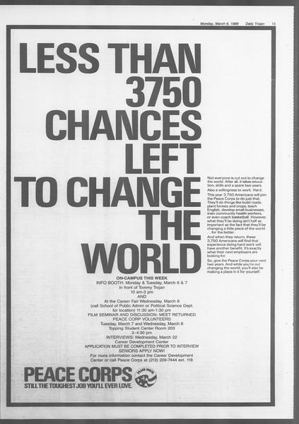 Daily Trojan, Vol. 108, No. 35, March 06, 1989
