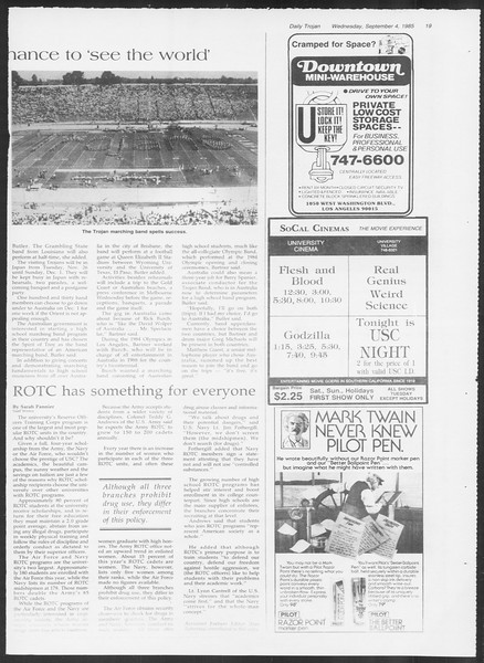 Daily Trojan, Vol. 100, No. 2, September 04, 1985