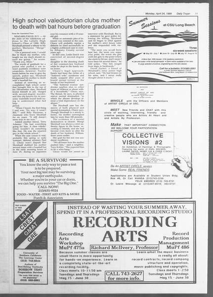 Daily Trojan, Vol. 108, No. 64, April 24, 1989