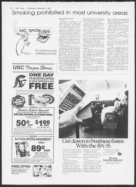 Daily Trojan, Vol. 100, No. 2, September 04, 1985