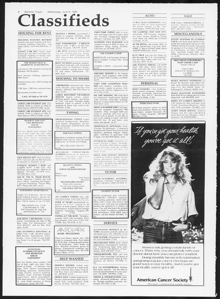 Summer Trojan, Vol. 96, No. 3, June 06, 1984