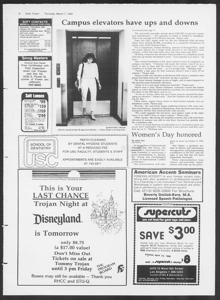 Daily Trojan, Vol. 98, No. 38, March 07, 1985