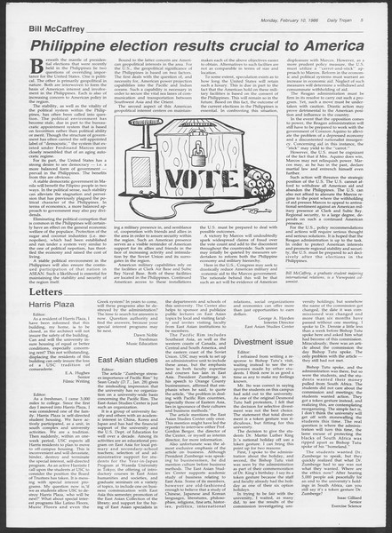 Daily Trojan, Vol. 100, No. 22, February 10, 1986