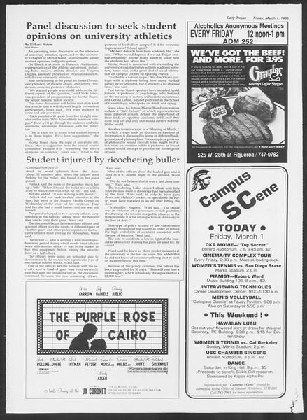 Daily Trojan, Vol. 98, No. 34, March 01, 1985