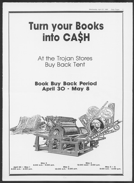 Daily Trojan, Vol. 100, No. 66, April 23, 1986