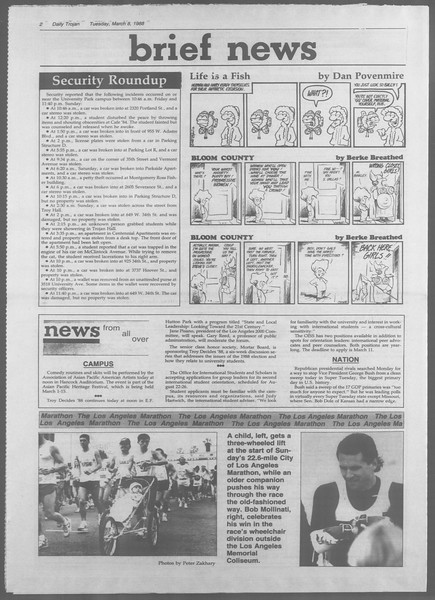 Daily Trojan, Vol. 106, No. 39, March 08, 1988