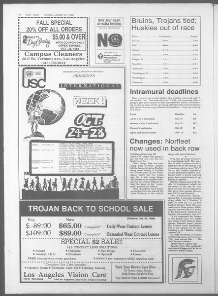 Daily Trojan, Vol. 107, No. 34, October 24, 1988