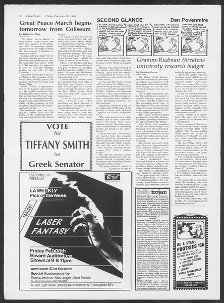 Daily Trojan, Vol. 100, No. 34, February 28, 1986