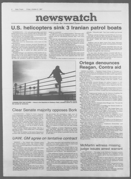 Daily Trojan, Vol. 105, No. 26, October 09, 1987