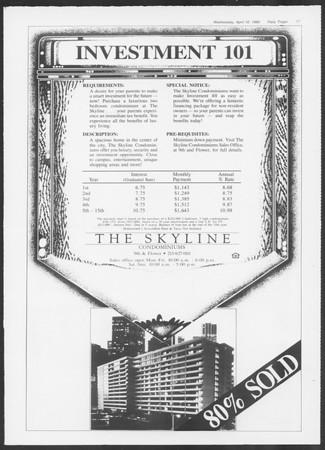 Daily Trojan, Vol. 100, No. 61, April 16, 1986