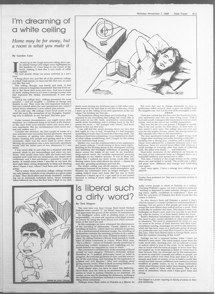 Daily Trojan, Vol. 107, No. 43, November 07, 1988