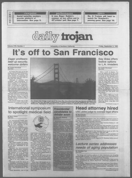 Daily Trojan, Vol. 107, No. 4, September 09, 1988
