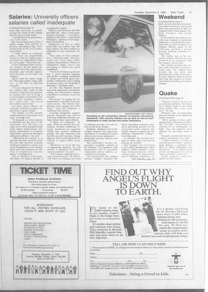 Daily Trojan, Vol. 107, No. 61, December 06, 1988