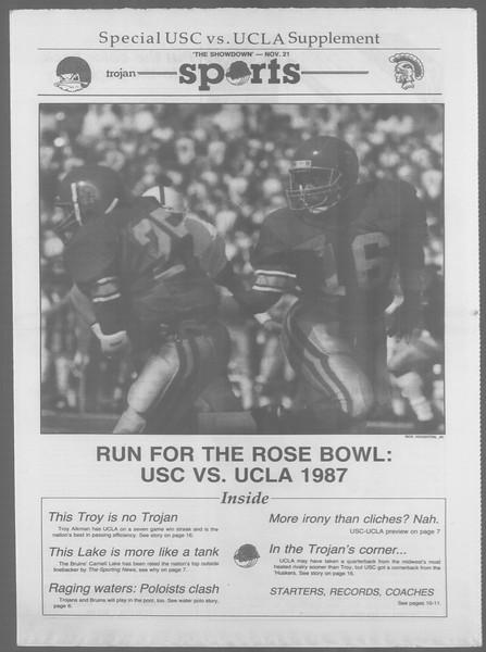 Daily Trojan, Vol. 105, No. 56, November 20, 1987