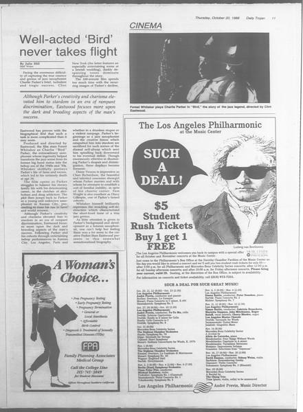 Daily Trojan, Vol. 107, No. 32, October 20, 1988