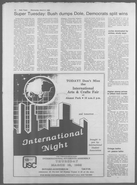 Daily Trojan, Vol. 106, No. 40, March 09, 1988