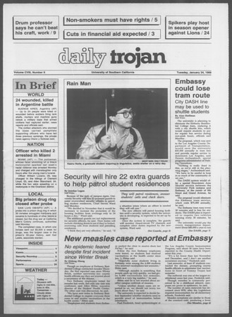 Daily Trojan, Vol. 108, No. 8, January 24, 1989