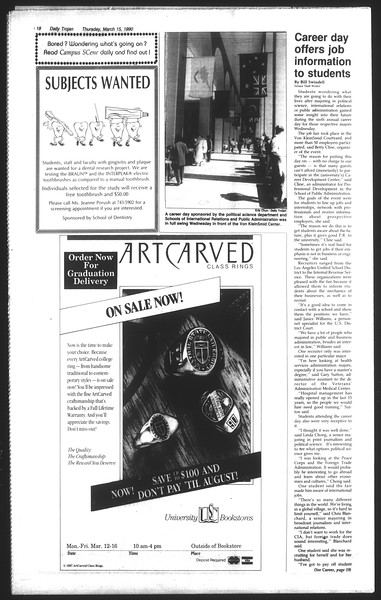 Daily Trojan, Vol. 111, No. 43, March 15, 1990