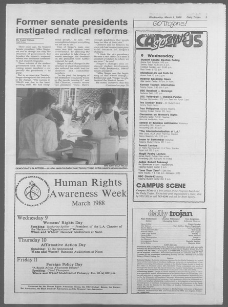Daily Trojan, Vol. 106, No. 40, March 09, 1988