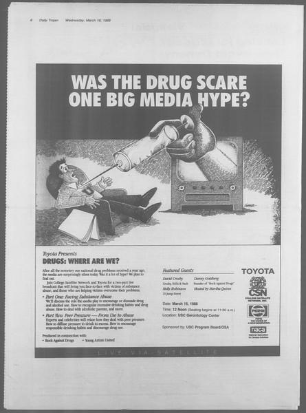 Daily Trojan, Vol. 106, No. 45, March 16, 1988