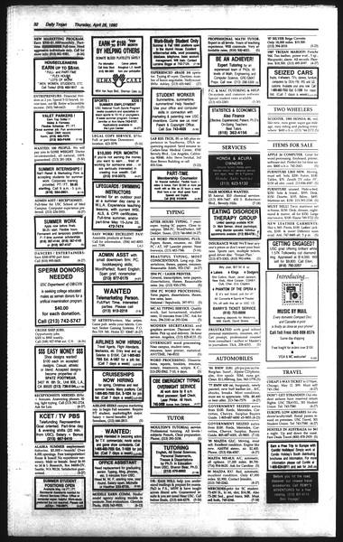 Daily Trojan, Vol. 111, No. 67, April 26, 1990