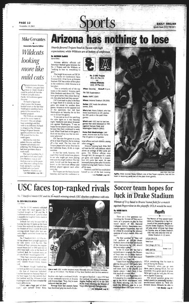 Daily Trojan, Vol. 150, No. 57, November 14, 2003