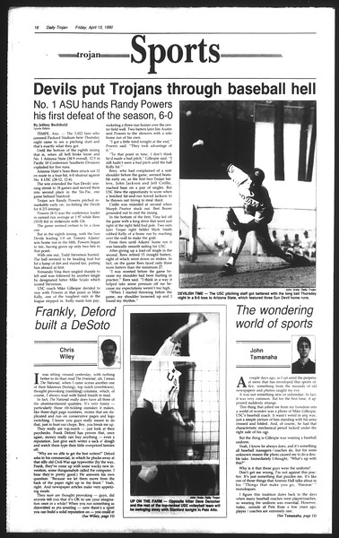 Daily Trojan, Vol. 111, No. 58, April 13, 1990