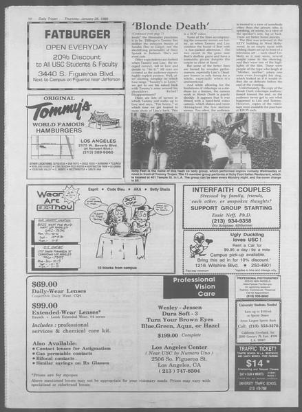 Daily Trojan, Vol. 106, No. 13, January 28, 1988