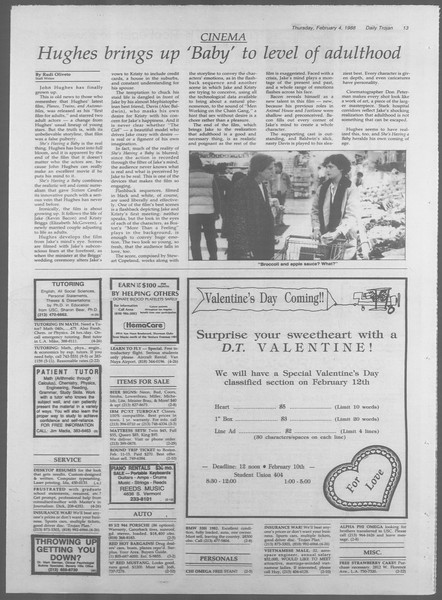 Daily Trojan, Vol. 106, No. 18, February 04, 1988