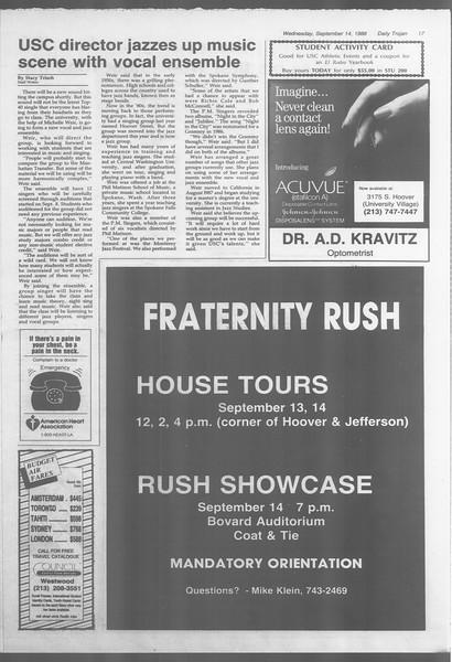 Daily Trojan, Vol. 107, No. 6, September 14, 1988