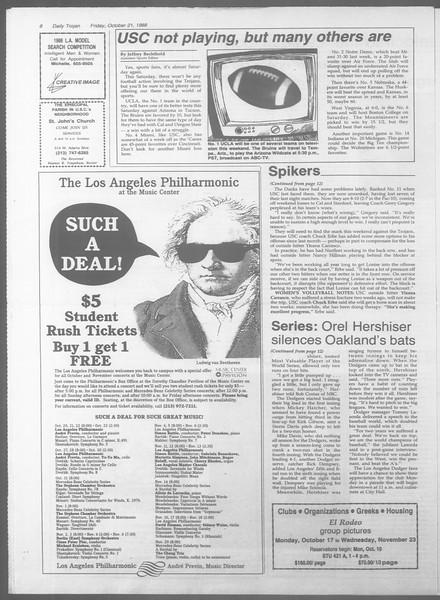 Daily Trojan, Vol. 107, No. 33, October 21, 1988