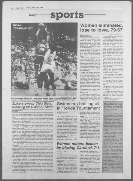 Daily Trojan, Vol. 106, No. 52, March 25, 1988