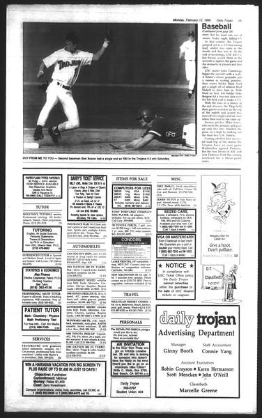 Daily Trojan, Vol. 111, No. 22, February 12, 1990