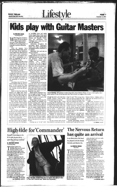Daily Trojan, Vol. 150, No. 55, November 12, 2003