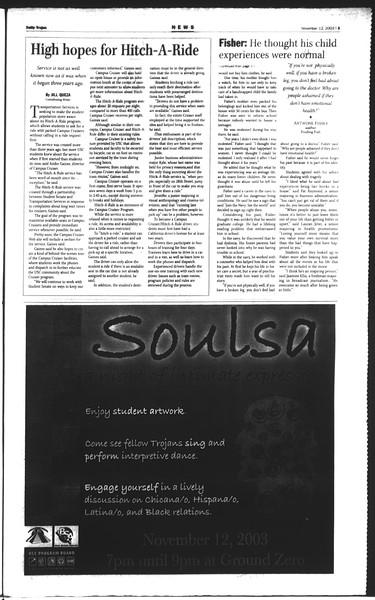 Daily Trojan, Vol. 150, No. 55, November 12, 2003