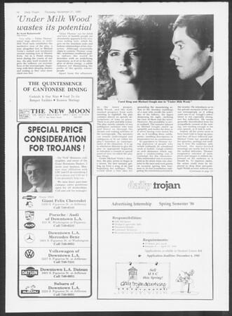 Daily Trojan, Vol. 100, No. 55, November 21, 1985