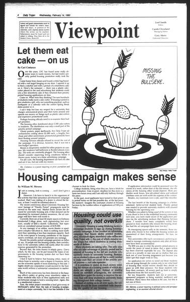 Daily Trojan, Vol. 111, No. 24, February 14, 1990