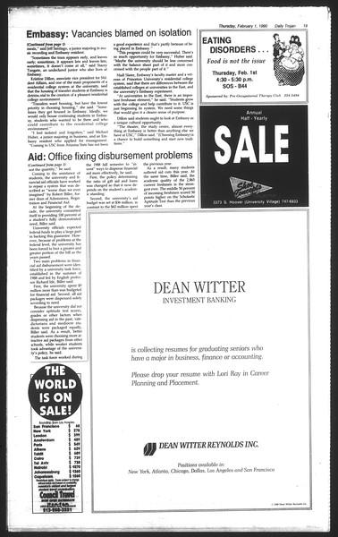 Daily Trojan, Vol. 111, No. 15, February 01, 1990
