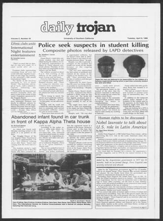 Daily Trojan, Vol. 100, No. 55, April 08, 1986