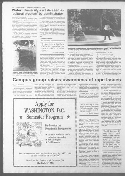 Daily Trojan, Vol. 107, No. 29, October 17, 1988