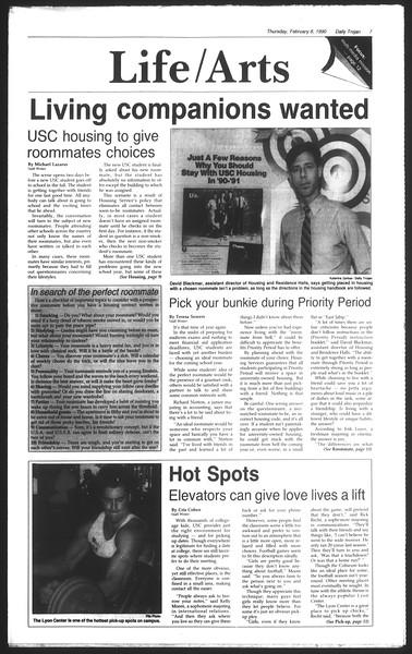 Daily Trojan, Vol. 111, No. 20, February 08, 1990