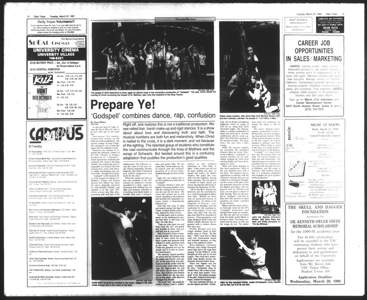 Daily Trojan, Vol. 111, No. 46, March 20, 1990